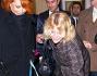 Marina Ripa di Meana con Flavia Vento che saluta i Carlini