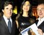 Cecilia Capriotti posa con Urbano Cairo e Andrea Biavardi