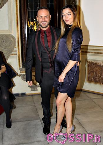 Il festeggiato Antonello Lauretti con la bellissima Soleil Sorge