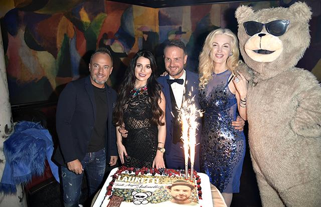 Antonello Lauretti con il Dott Emanuele Puzzilli, Alessia Macari e la Marchesa