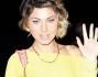 Claudia Andreatti al compleanno della Perrusi a Roma