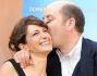 Lorenza Indovina ed Antonio Albanese alla conferenza stampa del film \'Qualunquemente\'