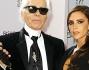 Victoria Beckham  e Karl Lagerfeld