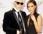 Victoria Beckham  e Karl Lagerfeld all'evento che assegna il premio dei media e della televisione assegnato annualmente dalla compagnia tedesca Hubert Burda Media