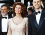 Sophia Loren insieme al figlio Edoardo Ponti e all'attore Enrico Loverso