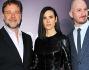 Russell Crowe e Jennifer Connelly con il regista Darren Aronofsky