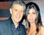 Ezio Greggio con la fidanzata Simona Gobbi ap party organizzato dal settimanale \'Diva e Donna\' per la \'Francesca Rava Foundation\'