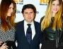 Glamour come sempre Debora Salvalaggio e Alessia Fabiani posano per i fotografi insieme a Massimo Monti