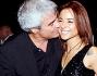 Pino Insegno con Alessia Cacciotti al party