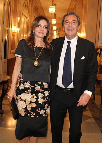 Attilio Romita con la compagna