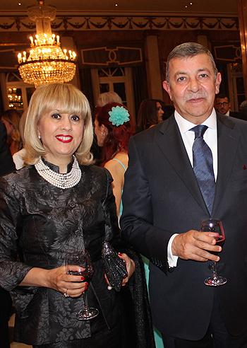 L'Ambasciatore d'Egitto Amr Mostafa Kamal Helmy con la moglie