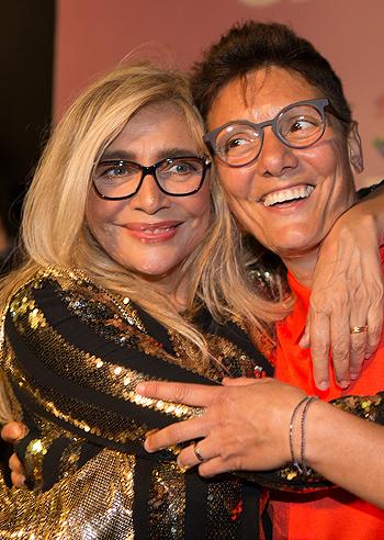 Imma Battaglia e Mara Venier