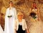 Maria Celli, Giada de Blanck e altre modelle in abito da sposa della collezione 'Atmosfere pietrine'