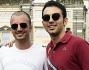 Primo Reggiani e Nicolas Vaporidis al primo Bike Walk romano