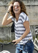 Chiara Giordano e i due figli con gli altri vip al Bike Walk a Roma: foto
