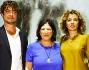 La padrona di casa Irene Petrafesa con Riccardo Scamarcio e Valeria Golino