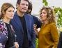 Riccardo Scamarcio e Valeria Golino con Ginevra Elkann alla presentazione di 'Tra Terra e Mare'