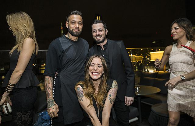 Andrea Graffagnini con Karina Cascella e Salvatore Angelucci