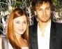 Andres Gil ed Anastasia Kuzmina sul red carpet della serata di Gala
