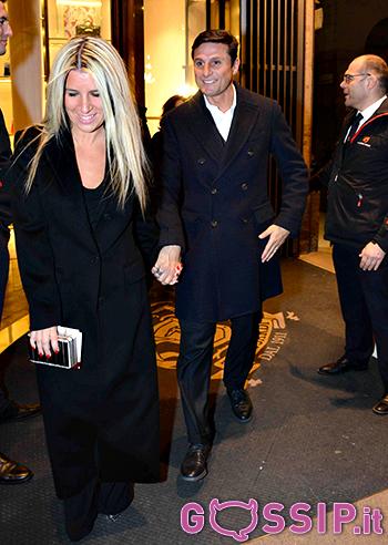 Javier Zanetti con la moglie