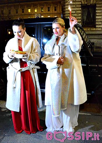 Michelle e Aurora con lo stesso cappotto