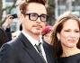 Robert Downey Jr con la moglie Susan per Iron Man 3 a Londra