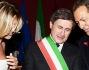 Filippo la Mantia e Stefania Scaranti con il Sindaco Gianni Alemanno che ha celebrato il matrimonio