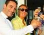Un brindisi tra gli sposi Matteo Viviani e Ludmilla Radchenko insieme agli amici Enzo Iacchetti e Marco Lodola