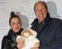 Stefano Masciarelli con la moglie all\'inaugurazione della Boutique \'Nanan\' abbigliamento per bambini