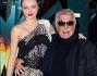 Miranda Kerr con lo stilista fiorentino Roberto Cavalli