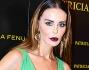 Nina Moric all'Hotel Boscolo di Milano mette in mostra il suo fisico mozzafiato e fa risaltare le sue labbra carnose con un dark lips