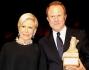 Anna Fendi con Sergio Valente al \'Premio Euromediterraneo 2011\'