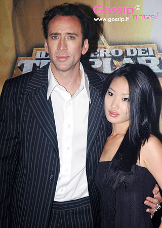 Nicolas Cage with wife alice kim