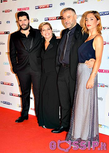 Salvatore Esposito, Cristina Donadio, Fortunato Cerlino e Cristiana Dell'Anna