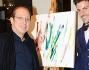 Paolo Berlusconi con il futuro genero Santi Serra