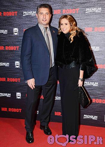 Daniele Massaro con la moglie