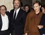 Brando De Sica e la fidanzata con Christian De Sica e Roberto Vecchioni