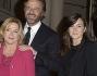 Christian De Sica con la moglie Silvia Verdone e la figlia Maria Rosa De Sica e Federico Pellegrini