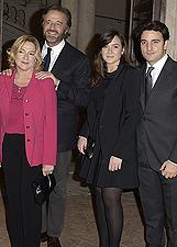 Christian De Sica con la moglie Silvia e i figli Brando e Maria Rosa al Premio De Sica: foto