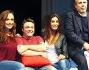 Roberta Giarrusso, Federica Nargi, Gabriele Cirilli e Federico Moccia in scena con 'Lui e Lei' al Teatro Brancaccio di Roma