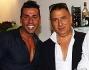 Remo Nicolini posa con lo zio all'inaugurazione di 'Delizioso Risto Bar'