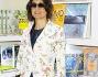 Look casual primaverile per Rosita Celentano alla libreria Arion presso il Palazzo delle Esposizioni di Roma