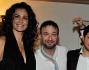 Samantha De Grenet,Marco Masini e Roberto Parli con il fratello Federico all\'inaugurazione dello \'Smaila\'s\' di St. Moritz
