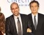 Checco Zalone con il produttore Pietro Valsecchi