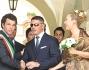 I due sposi, Susanna Torretta e Giorgio Alfieri, con Bagnasco che ha officiato le nozze