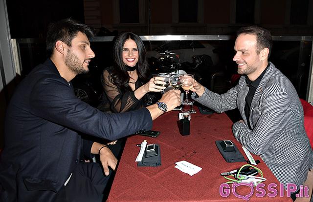 Eleonora Cortini e Jacopo brindano con Antonello Lauretti