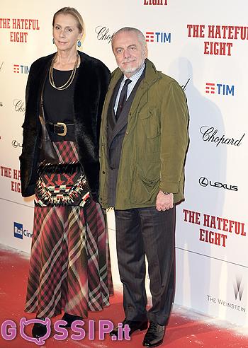 Aurelio De Laurentiis e la moglie Jacqueline Baudit