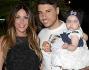 Guendalina Tavassi con il marito Umberto D'Aponte e la figlia Chloe