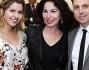 Claudia Conte con Vincenzo Bocciarelli e la stilista Anna Bruna Coppola
