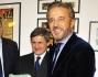 Christian De Sica con la moglie Silvia Verdone, Manuel De Sica ed il Sindaco Gianni Alemanno